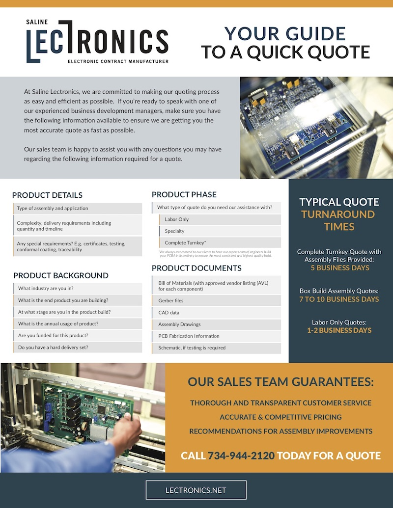 Saline Lectronics - Your Guide to a Quick Quote